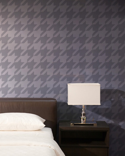 Houndstooth wall stencil-large graphic stencil