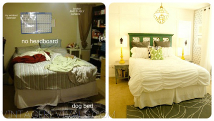 Epic Room Makeover with stencil