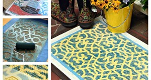 How to Stencil a Stencil-tacular Door Mat