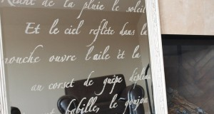 Hello Lovely: Typography Stenciled Mirror