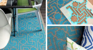 Low Budget – High Style Stenciled Outdoor Rug