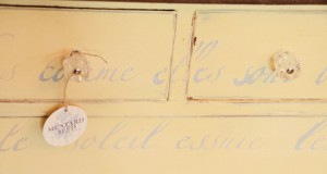 Miss Mustard Seed: Stenciled French Poem Dresser