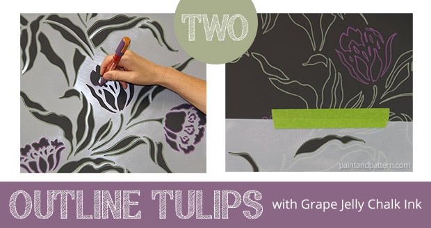 How to stencil with Chalk Pens