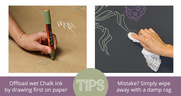 Tips for stenciling with Chalk Pens