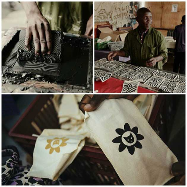 Designer Karen Walker commissioned Kenyan artists for their talents in screen printing and beading