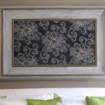 Japanese Inspired Stencil Art: Framed Chrysanthemums Part 1