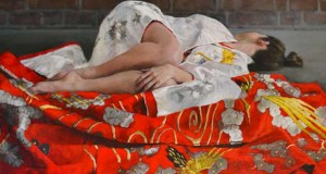 Awe-inspiring Japanese Kimono Oil Paintings by Stephanie Rew