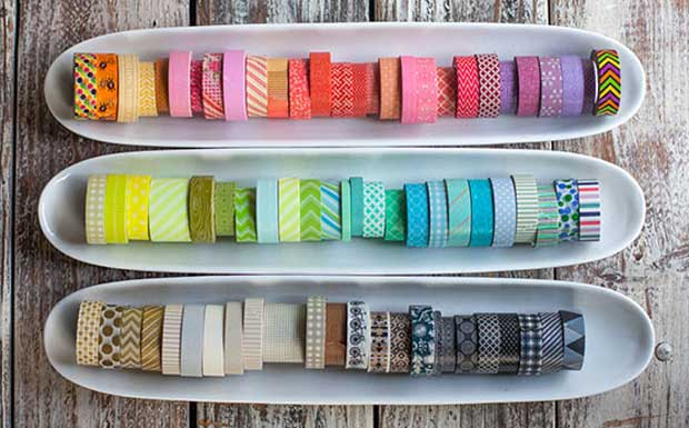 Washi Tape Rolls via Paint+Pattern