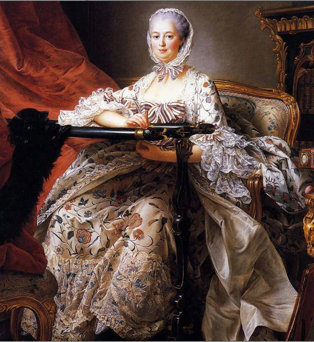 Madame-de-Pompadour dressed in an Indienned textile fabric | Paint + Pattern