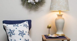 Stencil How-to: Stenciled Starfish Lampshade