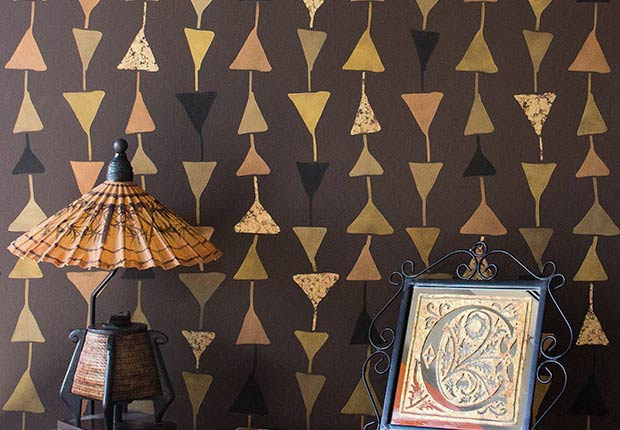 How to Stencil: Tribal Stenciled Wall Finish