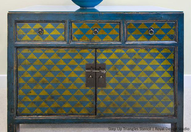 Style Your Dresser with Stencils