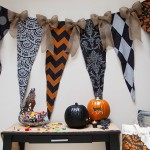 How To Stencil a Halloween Backdrop